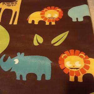 Jungle animal shower curtain